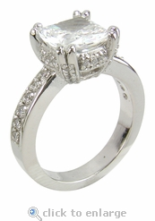 Cushion Split Pronged Solitaire