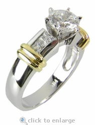 Single Row Two Tone Channel Solitaire