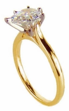Pear Cathedral Solitaires Featuring Ziamond Cubic Zirconia
