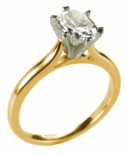 .75 ct. Oval Cathedral Solitaire Featuring Ziamond Cubic Zirconia
