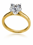1.5 ct. Heart Cathedral Solitaire Featuring Ziamond Cubic Zirconia