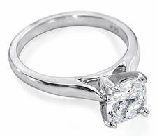 Cushion Cut Square Cathedral Solitaires Featuring Ziamond Cubic Zirconia