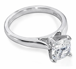 2.5 ct. Cushion Cut Square Cathedral Solitaire Featuring Ziamond Cubic Zirconia