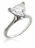 3.5 ct. Trillion Triangle Cathedtral Solitaire Featuring Ziamond Cubic Zirconia