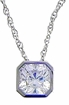 1.5 ct. Princess Bezel Solitaire Pendant