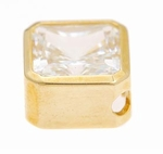 2.5  ct. Princess Bezel Solitaire Pendant