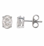 .50 ct. Each Oval Stud Earrings Featuring Ziamond Cubic Zirconia