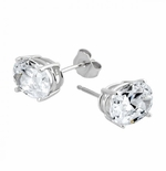 1 ct. Each Oval Stud Earrings Featuring Ziamond Cubic Zirconia