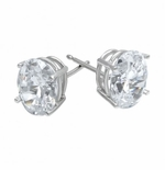 1.5 ct. Each Oval Stud Earrings Featuring Ziamond Cubic Zirconia