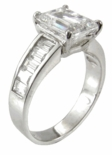 1.5 carat Channel Baguette Solitaire