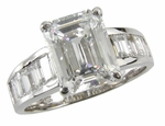 2.5 carat Channel Baguette Solitaire