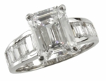 4 carat Channel Baguette Solitaire