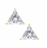 1 ct. Each Trillion Stud Earrings Featuring Ziamond Cubic Zirconia