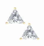 1.5 ct. Each Trillion Stud Earrings Featuring Ziamond Cubic Zirconia