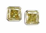 2.5 ct. Each Princess Bezel Studs