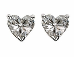 4 ct. Each Heart Stud Earrings Featuring Ziamond Cubic Zirconia