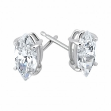 Marquise Stud Earrings Featuring Ziamond Cubic Zirconia