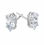 3 ct. Each Marquise Stud Earrings Featuring Ziamond Cubic Zirconia