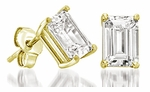4 ct.  Each Emerald Step Cut Stud Earring Collection Featuring Ziamond Cubic Zirconia