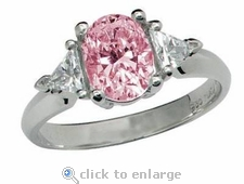 Legally Blonde 2 Style Ring 3.5 ct. Center
