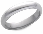 4mm Platinum Men's Comfort Fit Wedding Band