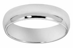 6mm Platinum Men's Comfort Fit Wedding Band