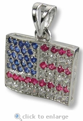 American Flag Pendant By Ziamond
