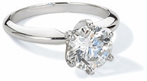 Cubic Zirconia Tiffany Style Solitaire Engagement Rings