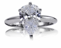 Pear Cubic Zirconia Tiffany Style Solitaire Engagement Rings