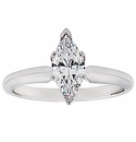 Marquise Cubic Zirconia Tiffany Style Solitaire Engagement Rings