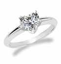 Heart Shape Cubic Zirconia Tiffany Solitaire Engagement Rings