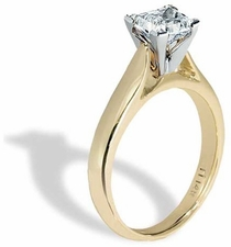 Cubic Zirconia Cathedral Solitaire Engagement Rings
