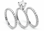 Tribecca Round Cubic Zirconia Three Ring Eternity Stacking Set