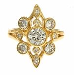 Morningstar Right Hand Cluster Bezel Cubic Zirconia Ring