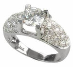 Pave Dome Solitaire