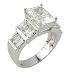 Embella Cubic Zirconia Engagement Solitaire Ring