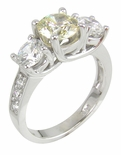 Campion Three Stone Ring by Ziamond
