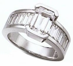 Gearard Emerald Cut And Baguette Ring