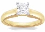 Princess Cut Silky Solitaire