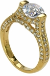 Calais Tension  Pave Channel Set Engagement Ring