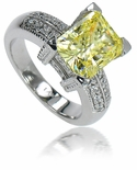 4 ct . Emerald Cut Decadence Solitaire