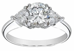 1 ct. Round With Trillions Ring Featuring Ziamond Cubic Zirconia