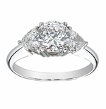 2 ct. Round With Trillions Ring Featuring Ziamond Cubic Zirconia