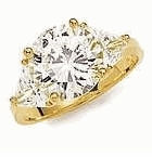 3.5 ct. Round With Trillions Ring Featuring Ziamond Cubic Zirconia