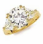 5.5 ct. Round With Trillions Ring Featuring Ziamond Cubic Zirconia