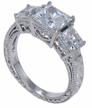 Cumbria Estate Three Stone Anniversary Ring by Ziamond