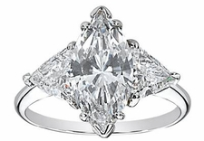 Marquise with Trillions Rings Featuring Ziamond Cubic Zirconia