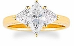 1 ct. Marquise with Trillions Ring Featuring Ziamond Cubic Zirconia