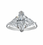 2 ct. Marquise with Trillions Ring Featuring Ziamond Cubic Zirconia