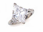 3 ct. Marquise with Trillions Ring Featuring Ziamond Cubic Zirconia